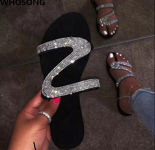 new sandals women bright diamond casual outdoor travel flip flop
