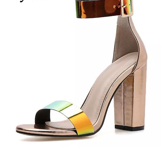Fashion Patent Leather Women Buckle Strap