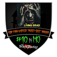 The Living Dead Haunted House Attraction top ten Award for Missouri