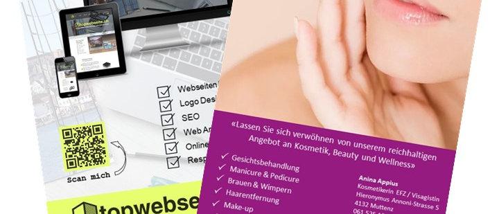 Flyer topwebseite und sonaya kosmetik