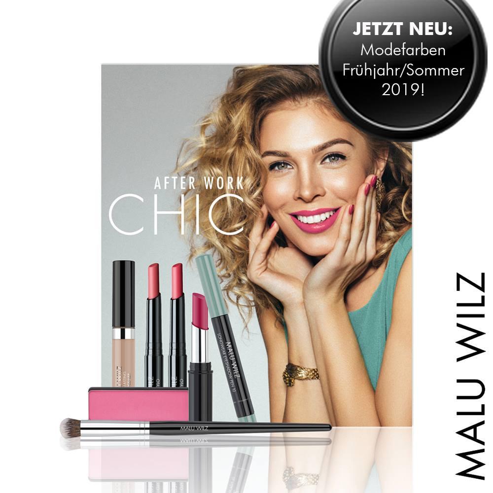 Cosmetics model, presenting the new Malu Wilz products