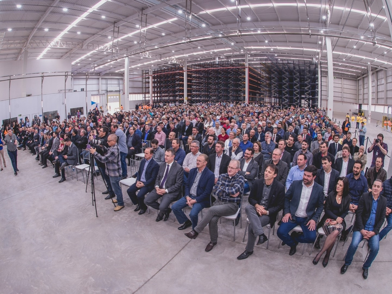 Inauguração da Unidad de Laticínios da Cooperativa Santa Clara, em Casca/RS.
