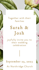 wedding website templates – Romantic Wedding Invite