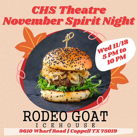 CHS Theatre November Spirit Night.png