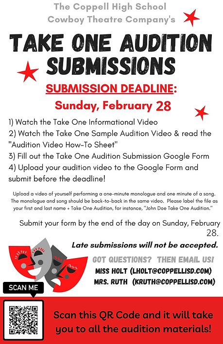 Take One Audition Submissions - Extended