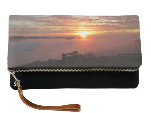 Sunset Bench Fold Over Clutch
