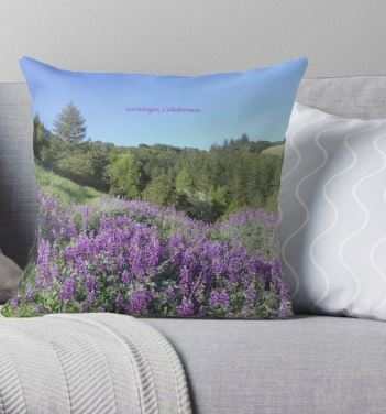 saratoga lupine meadow pillow