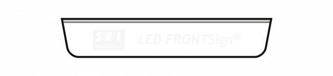 LED Nameboard - To Suit Mercedes Actros StreamSpace 230 Sun Visor 20 x110cm