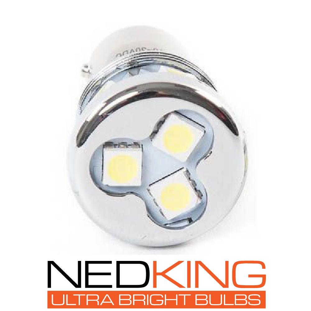 Amber Ultra Bright BA15s LED Bulb, 5050 SMD, 12/24v, CE Marked (Single)