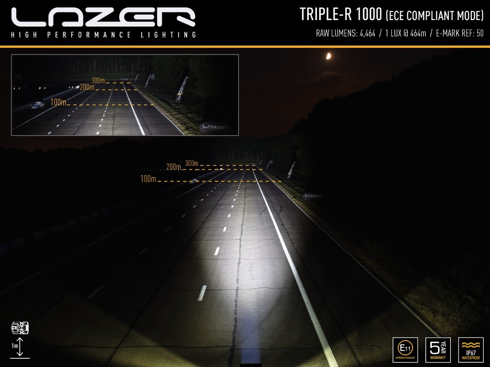 "Lazer Triple-R 16"" 1000 Standard LED Spot Lamp with Position Ligh"