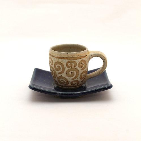 Espressotasse Set beige Welle