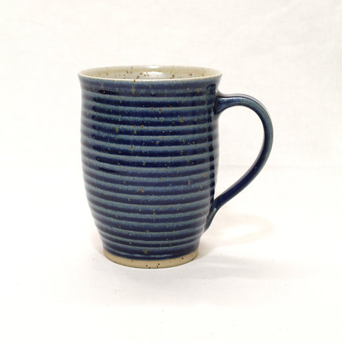 Trinkviel Tasse blau Drehrille