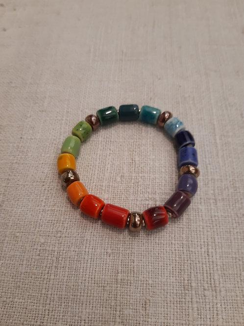Perlenarmband Regenbogen