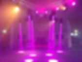 Trussing with purple lights at party.jpg