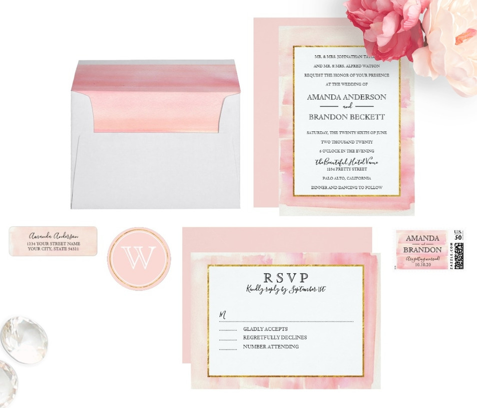 Watercolor Wedding | Rose Gold Pink