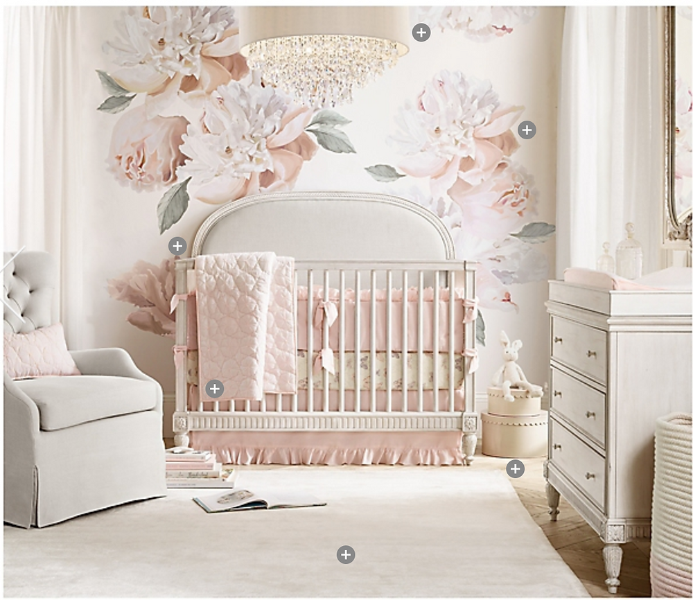 RH BABY AND CHILD Grand Peony Petal Baby Girl Nursery