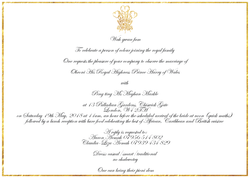 Royal Wedding Invitation Replica Watch Party Invitation