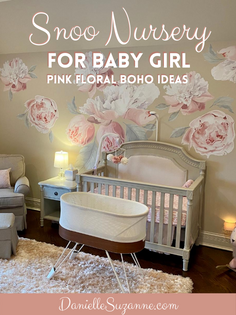 Snoo Nursery for Baby Girl | Pink Floral Boho Ideas