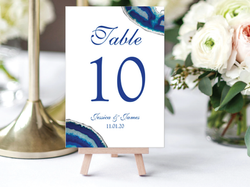 Blue Agate Table Card