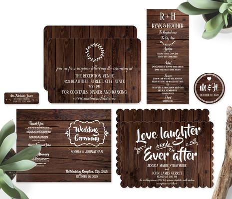 Rustic Wood Wedding Suite