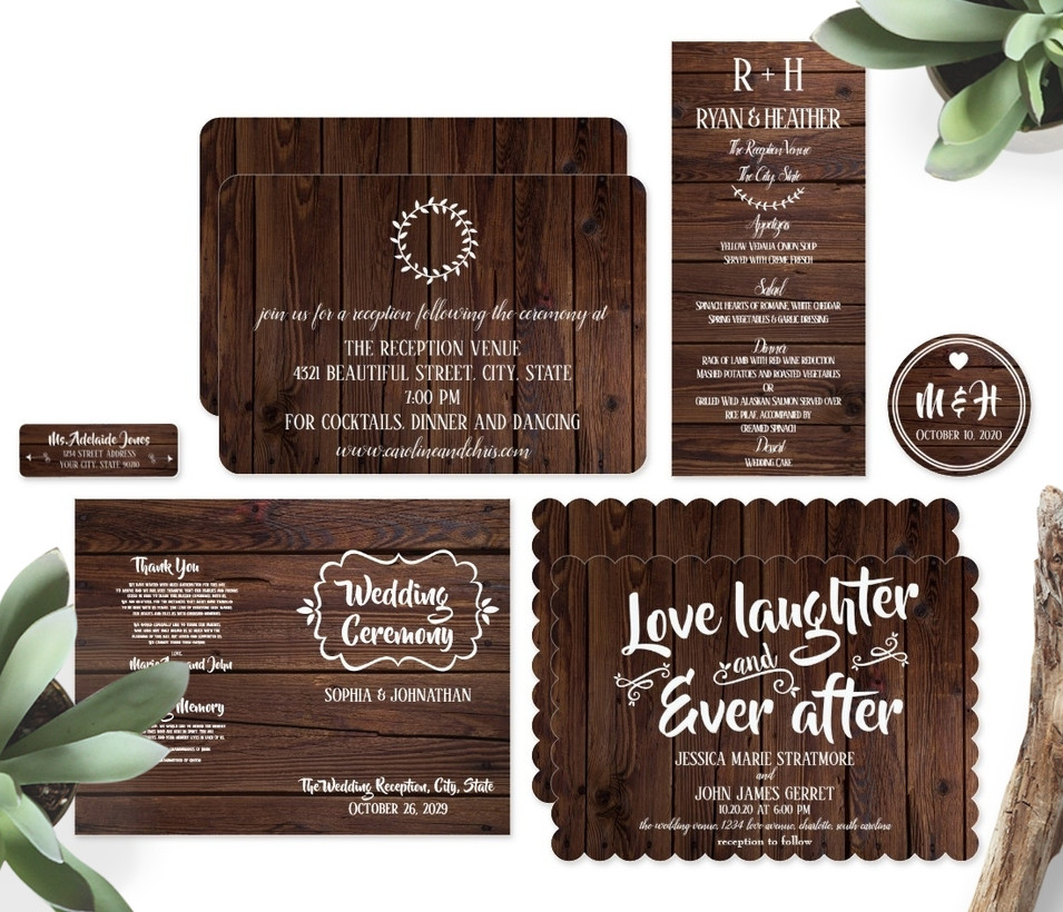 Rustic Wood Wedding Suite