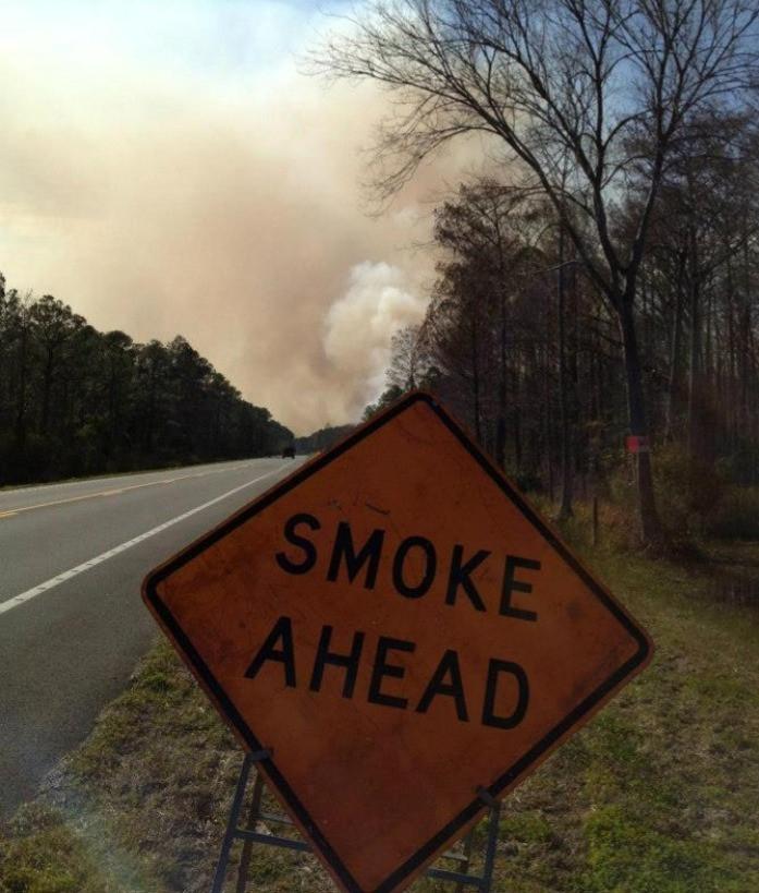 Smoke Ahead Sign