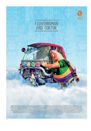 Fisherwoman and Tuk Tuk