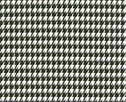 Houndstooth Black - White