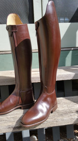 Mens chestnut calf traditional style