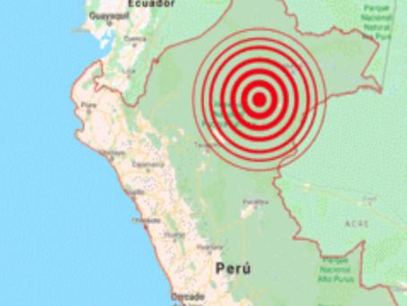 Temblor se registró a 60 km al sur de Lagunas, Alto Amazonas, según informó el Instituto Geofísico d