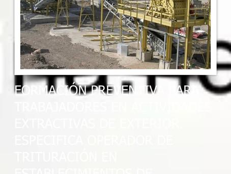 Curso abierto: operarios mineros de establecimientos de beneficio