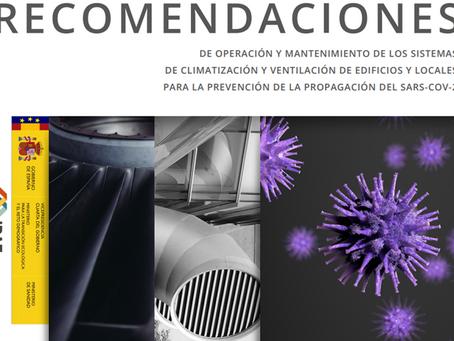 RECOMENDACIONES  SISTEMAS DE CLIMATIZACIÓN Y VENTILACIÓN DE EDIFICIOS Y EL SARS-COV-2