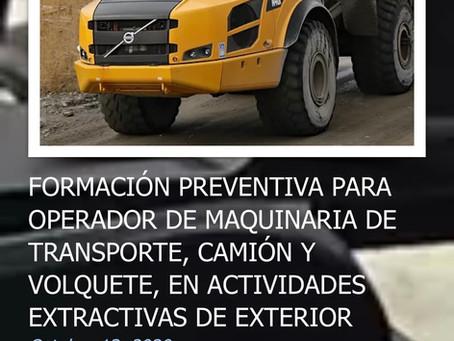Curso abierto: operarios mineros de dúmper y camiones