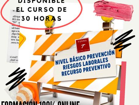 Curso de técnico en PRL básico de 30 horas 100% on line. Recurso preventivo.