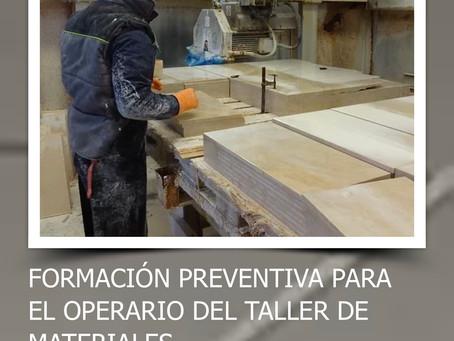 Formación preventiva para operarios de taller de mármol