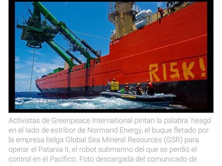 Un robot de minería submarina se pierde en el Pacífico