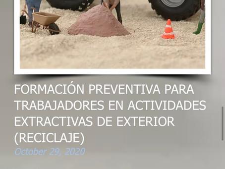 FORMACIÓN PREVENTIVA PARA TRABAJADORES EN ACTIVIDADES EXTRACTIVAS DE EXTERIOR (RECICLAJE)
