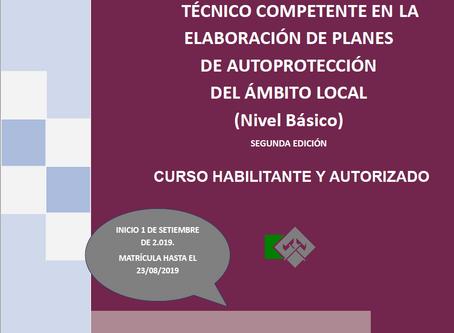 CURSO TÉCNICO COMPETENTE EN LA ELABORACIÓN DE PLANES DE AUTOPROTECCIÓN DEL ÁMBITO LOCAL (Nivel Básic