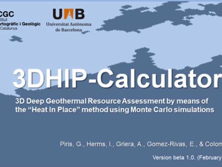 3DHIP-Calculator Herramienta gratuita de Evaluación del potencial geotérmico profundo.