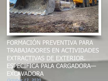 Curso abierto: operarios mineros de palas cargadoras y excavadoras