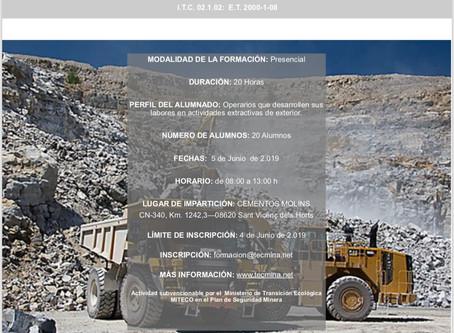 Formación de operarios mineros de exterior: reciclaje.