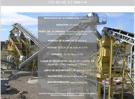 Formación de operarios de establecimientos de beneficio mineros: formación inicial 20 horas