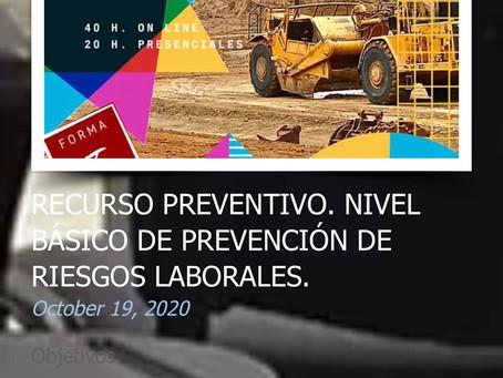 RECURSO PREVENTIVO. NIVEL BÁSICO DE PREVENCIÓN DE RIESGOS LABORALES.