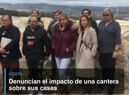 Denuncian el impacto de una cantera sobre sus casas