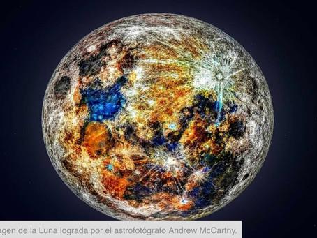 ¡Sorpresa! En realidad la Luna es multicolor