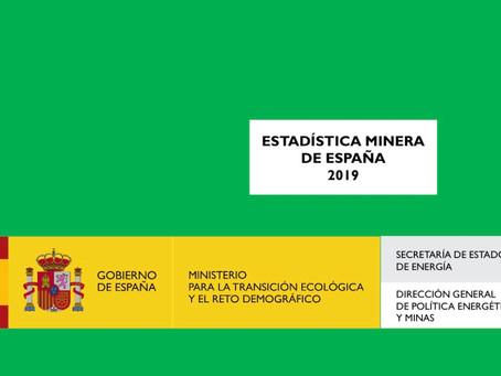 ESTADÍSTICA MINERA DE ESPAÑA 2019