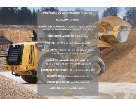 Formación para trabajadores mineros en sábado