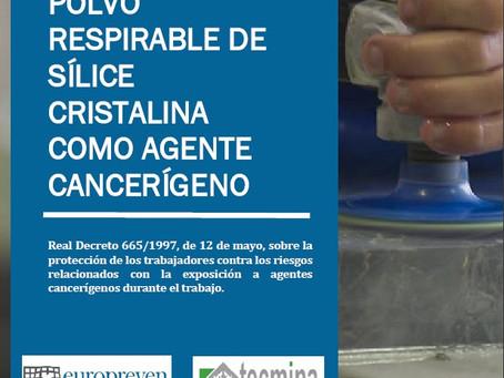POLVO RESPIRABLE DE SÍLICE CRISTALINA COMO AGENTE CANCERÍGENO EN TALLERES DE CORTE Y PULIDO