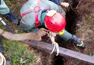Los cazadores piden a Hunosa que tape ya los peligrosos agujeros de viejas minas