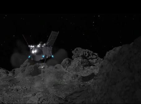 La sonda OSIRIS-Rex logró descender exitosamente sobre el asteroide Bennu para extraer minerales